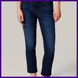 Ann Taylor Loft Jeans Size Style Modern Crop SZ 14
